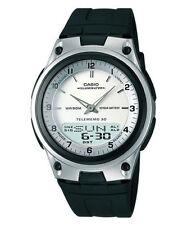 Casio Men's Combo Data Bank Watch, Black Resin Strap, 3 Alarms, AW80-7AV