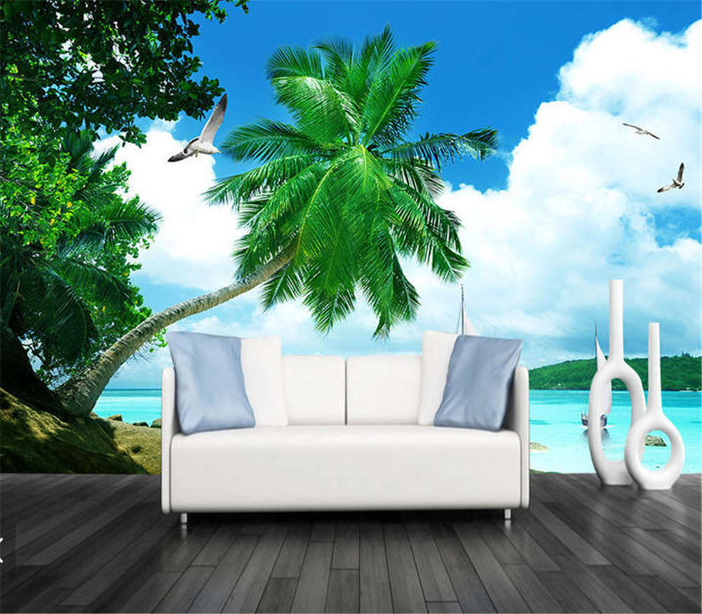 Inverse Great Leaf 3D Full Wall Mural Photo Wallpaper Printing Home Kids Decor