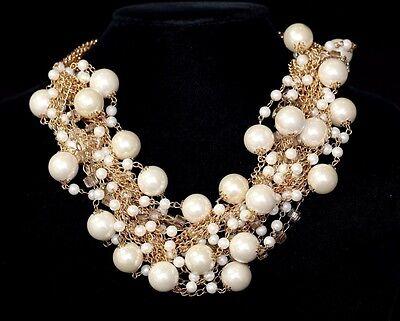 Sea Shell Starfish Faux Pearl Necklace Fashion Jewelry TS