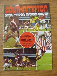 10091974 Southampton v Notts County Football League Cup   Any faults with t - <span itemprop=availableAtOrFrom>Birmingham, United Kingdom</span> - Returns accepted within 30 days after the item is delivered, if goods not as described. Buyer assumes responibilty for return proof of postage and costs. Most purchases from business s - Birmingham, United Kingdom