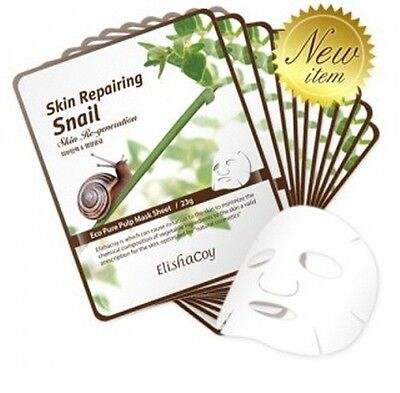 [Elishacoy] Skin Repairing Snail Mask (Reparing) 23g * 10pcs