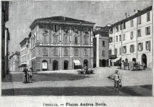 Passepartout 1900 Imperia Oneglia: Piazza Andrea Doria Stampa Antica