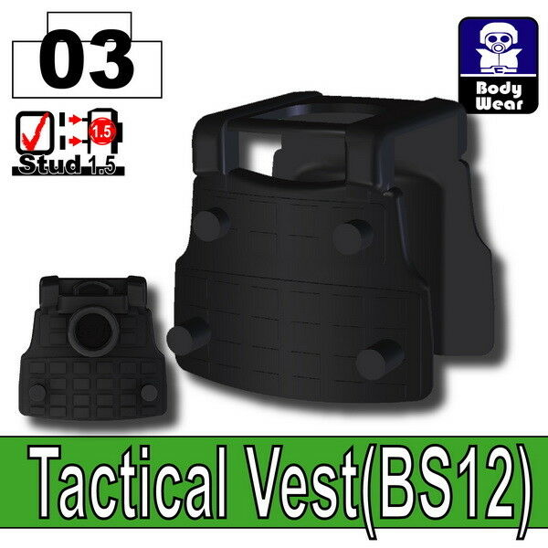 compatible with toy brick minifigures Black BS14 Tactical Army Vest W254
