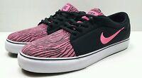 "NIKE ""Satire PRM"" Pink Black Textile Vegan Zebra Shoes Womens Size 7.5"