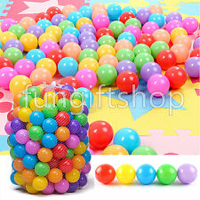400pcs Quality Secure Baby Kid Pit Toy Swim Fun Colorful Soft Plastic Ocean Ball