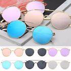 Oversized Cat Eye Sunglasses Flat Mirrored Lens Metal Frame Women Men Fashion