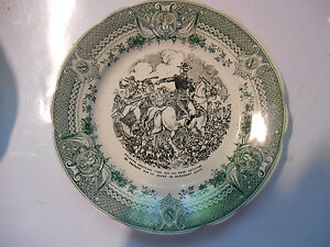 Humble Sarreguemines Assiette Napoleon Plate Old French 1860 Faience,bataille