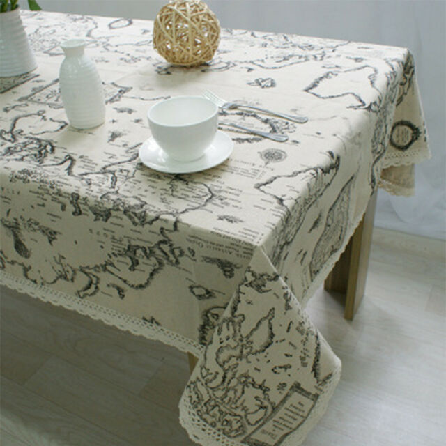 World Map Table Cloth Dustproof Household Table Decoration Home Textile SALE