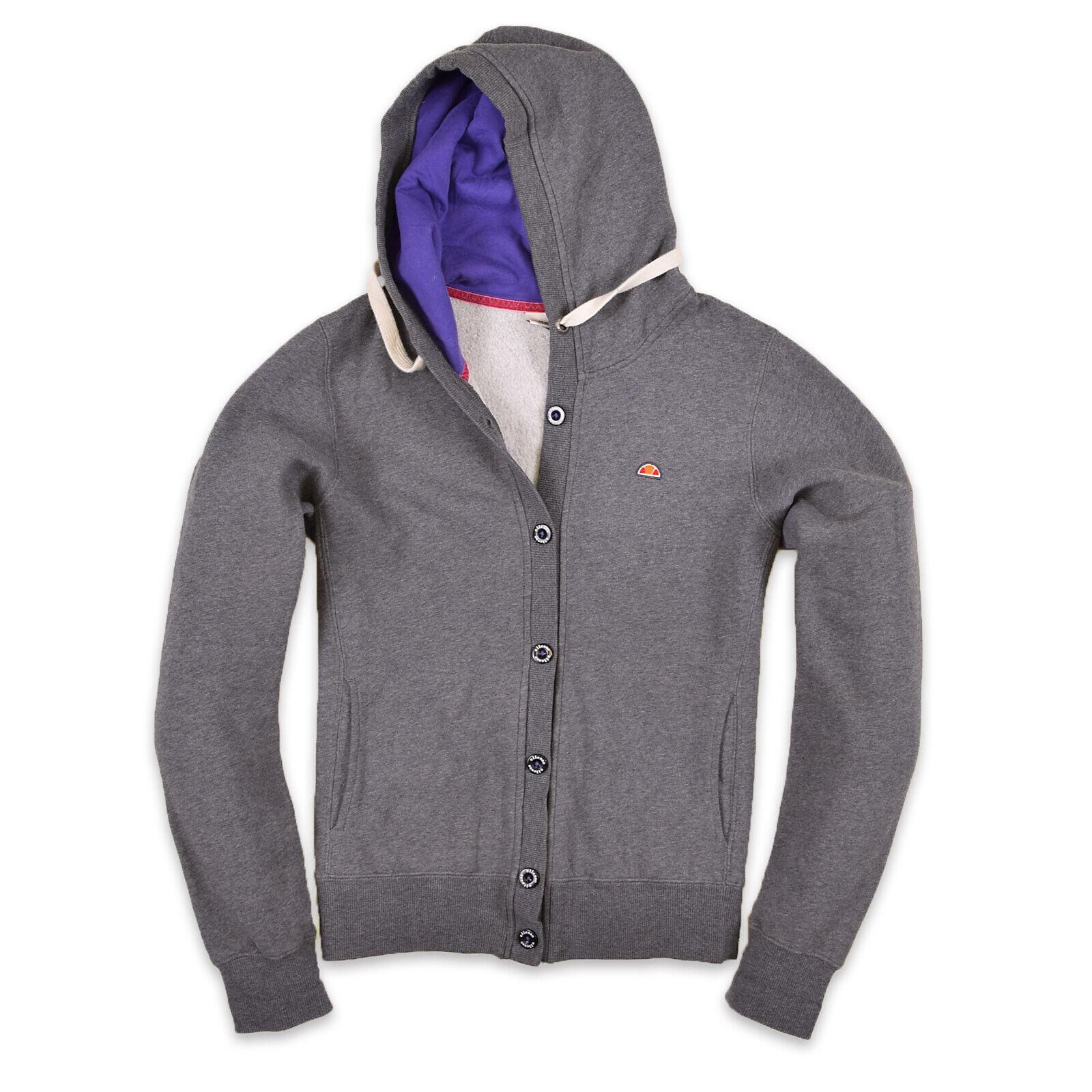 Ellesse Damen Sweatshirt Kapuzenpullover Gr.16 (DE 44) Jacke Italia Grau 80100