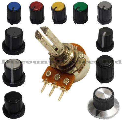 1K ohm Dual Stereo Log Logarithmic Lin Linear Pot Potentiometer And Knob