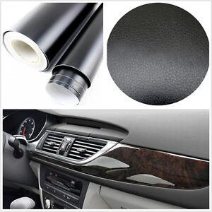Car-SUV-Interior-Console-Dashboard-3D-black-Leather-Texture-Film-Vinyl-Sticker
