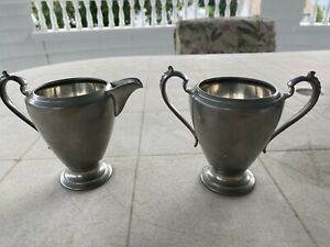 Pewter-Pitcher-and-Cup-Narragansett-By-Quaker-Vintage