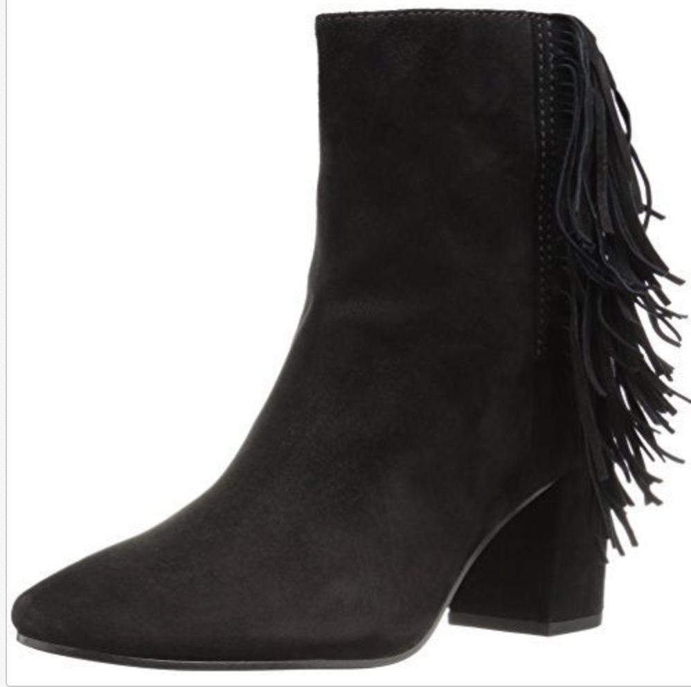 Sconto del 70% FRYE Jodi Fringe Short Ankle avvioie nero Suede Suede Suede Block Heel Side Zip Sz 8 NEW  Sconto del 70% a buon mercato