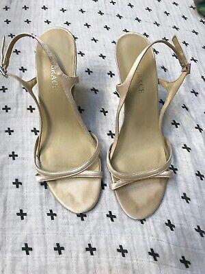 White Wedge Wedding Shoes, Satin