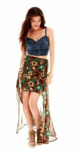 L'Amour Nanette Lepore High-Low Maxi Skirt New Juniors Size XS S
