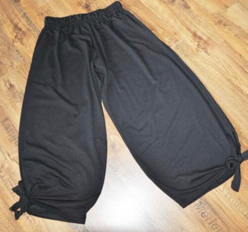 Xxxl larghi Capezzoli Pantaloni Xxl 48 46 Raffinato 52 50 Jersey Xl Lagenlook Nero npg7xE