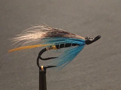 3 Blue Charm Double Hook Salmon// Sea Trout Flies Fishing Flies Sizes 8 10 12