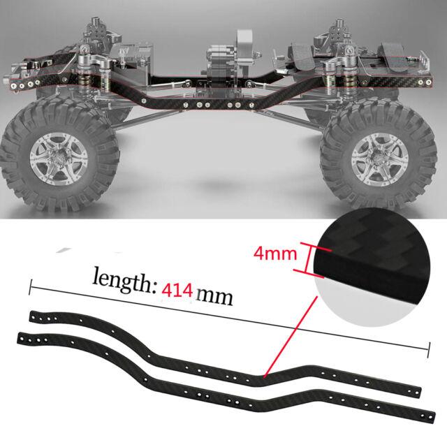 2pcs Light Carbon Fiber Chassis Frame Rails for Axial Scx10 1/10 RC Crawler  Car