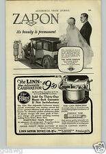 1925 PAPER AD Linn Motor Device Carburetor Car Auto Automobile