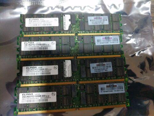 345114-851 ELPIDA 8GB PC2-3200R DDR2-400 ECC RAM Server Memory Kit 4x2GB