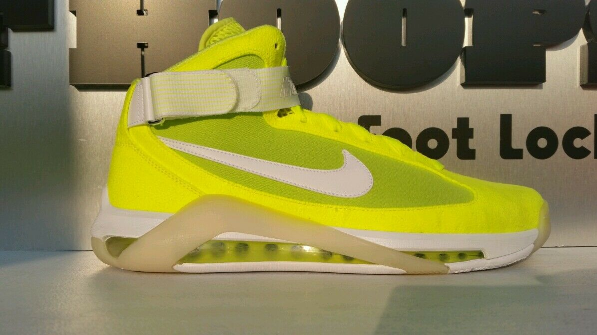 NIKE HYPERMAX NFW VOLT TENNIS BALL PACK 11.5 YELLOW 375946-711 MCFLY BACK FUTURE