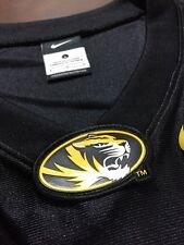 NIKE MISSOURI TIGERS FOOTBALL JERSEY MENS LARGE RARE BLANK NCAA BLACK 90s