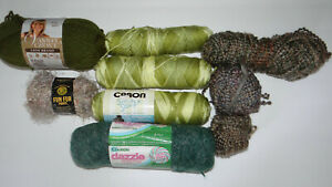 Mixed-Lot-of-Various-Yarn-Skeins-Caron-Dazzle-Vanna-039-s-Choice-Crafts
