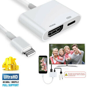 Details about Apple Lightning Connect to HDMI TV AV Adapter for iPad Mini 5  Air 3 to Apple TV