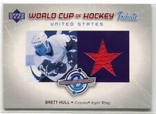 2004-05 Upper Deck World Cup of Hockey Tribute BH Brett Hull Jersey SP
