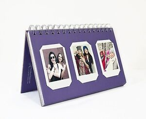 Photo Album Book style 60 Pocket for Fuijufilm Instax Mini (Purple)