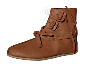 ae09eabf1a0e Das Bild wird geladen Wikinger-Schuhe-Mittelalter-Stiefel-Mittelalterschuhe- Haithabu-LARP-Groesse-