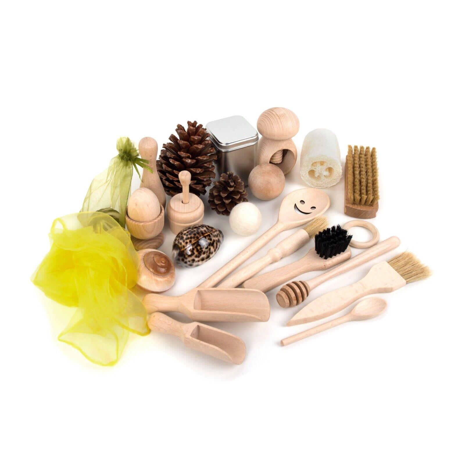 Heuristic Play Set - Montessori Treasure Basket