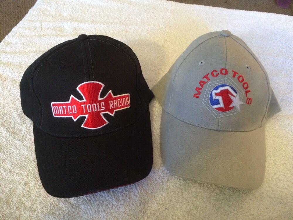 2 Matco Tools Black Hats 1 Grey & 1 Black Tools Both New fa719c