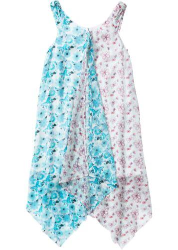 Kids 928171 in Weiß//Aqua 170 Zipfelkleid mit Blumendruck
