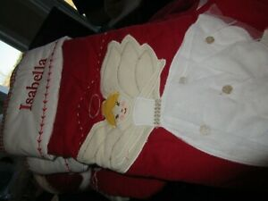 Pottery Barn Kids Quilted Stocking Blonde Angel Christmas