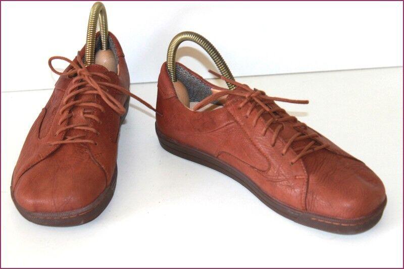 BAR Sneakers Cuir Souple Marron 40.5 T 7 / T 40.5 Marron TBE 103365