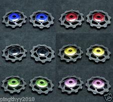 J&L 11T Ceramic Derailleur Pulley/Jockey* 2 For Shimano,SRAM,Campagnolo-6g