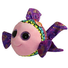 TY Beanie Boos - FLIPPY the Fish (Glitter Eyes) (Medium - 9 inch) - MWMTs Boo