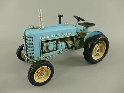 Traktor Antik Stil Eisen Blech Modell Retro Oldtimer L.26cm Trecker Nostalgie