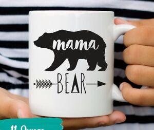 33323886e9 Mama Bear Mug New Mother Coffee Mugs Mother's Day Gift for Mom   eBay