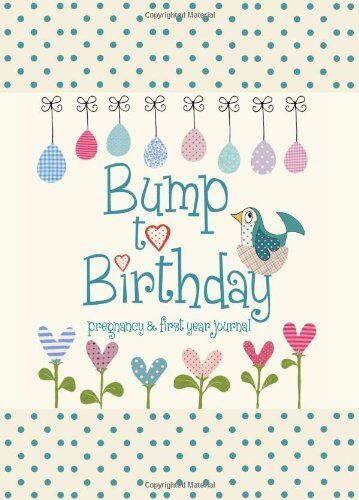 1 of 1 - Bump to Birthday, Pregnancy & First Year Baby Journal : an award-winning journ,