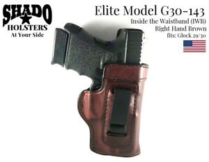 SHADO-Leather-Holster-USA-Elite-Model-G30-143-Right-Hand-Brown-Glock-29-30-Brand
