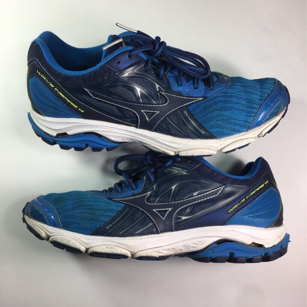 Mizuno Mens Wave Inspire 14 Running Shoes Blue 410983.5N5R Lace Up Low Top 11M