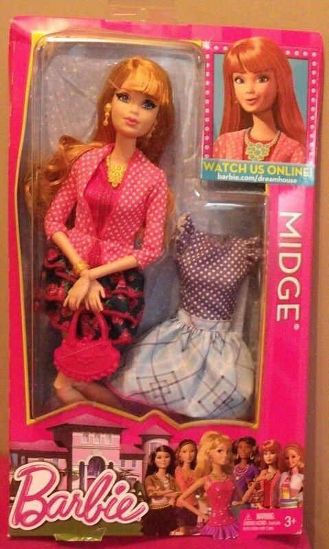 Barbie MIDGE Life in the Dreamhouse 2012 Mattel Y7442 poupee ROUSSE boite rare