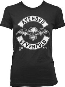 Licensed-Avenged-Sevenfold-A7X-Death-Bat-Soft-Junior-T-Shirt-Tshirt-Tee-Shirt