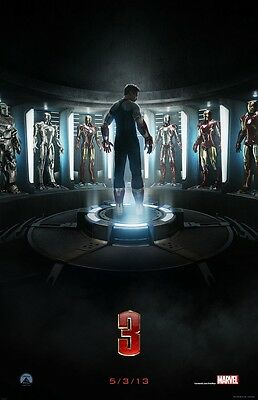 IRON MAN 3 movie poster  : 11 x 17 inches : (style A) : ROBERT DOWNEY JR poster