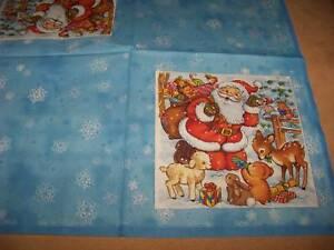 4 servietten weihnachten weihnachtsmann blau napkin neu ebay. Black Bedroom Furniture Sets. Home Design Ideas