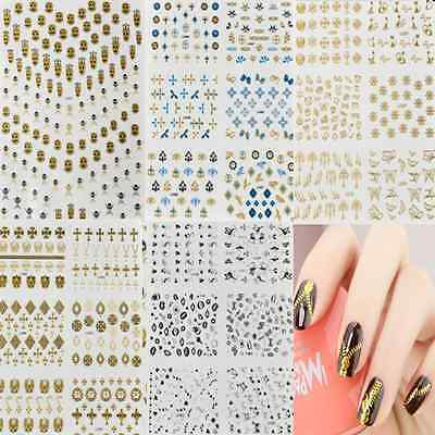 Wholesale Colorful Nail Stickers Manicure Decals Stamping Wraps Nail Art DIY