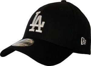 LA Dodgers New Era 3930 League Essential Black Stretch Fit Baseball ... d4f83db9edd7