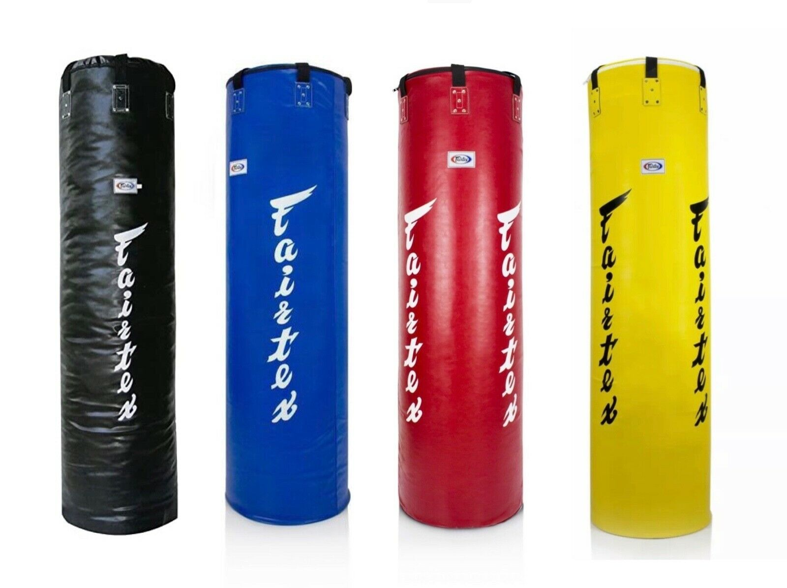 FAIRTEX HB5 4FT Syntek Heavy Punch Borsa Non Riempita NERO MUAY THAI KICK BOXING